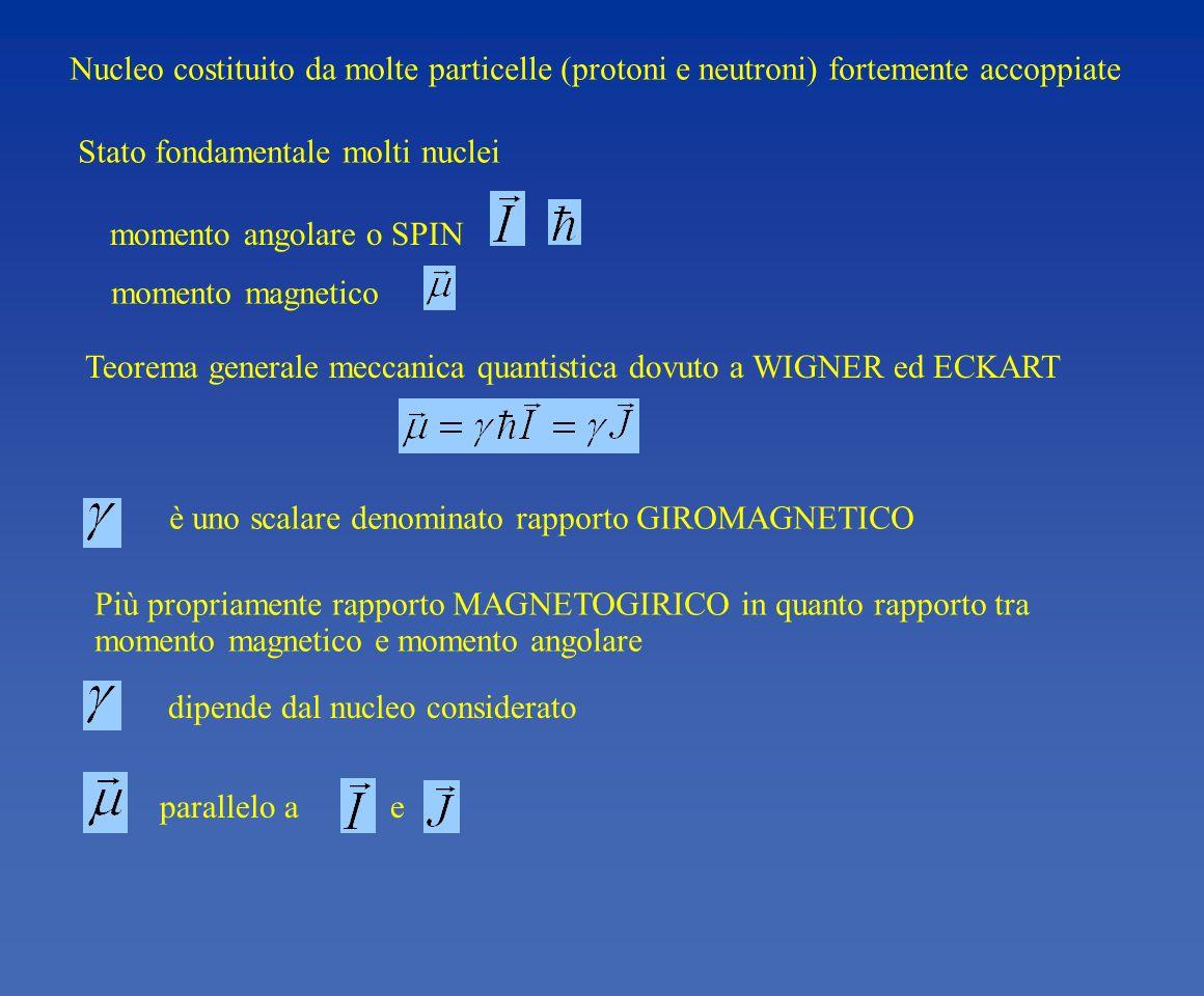 Nucleo costituito da molte particelle (protoni e neutroni) fortemente accoppiate