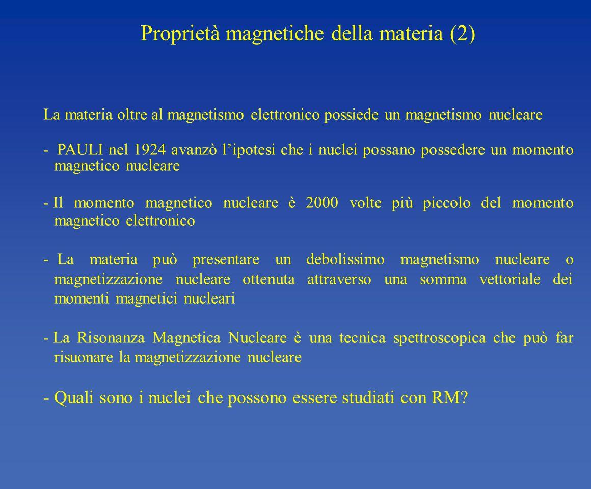 Proprietà magnetiche della materia (2)