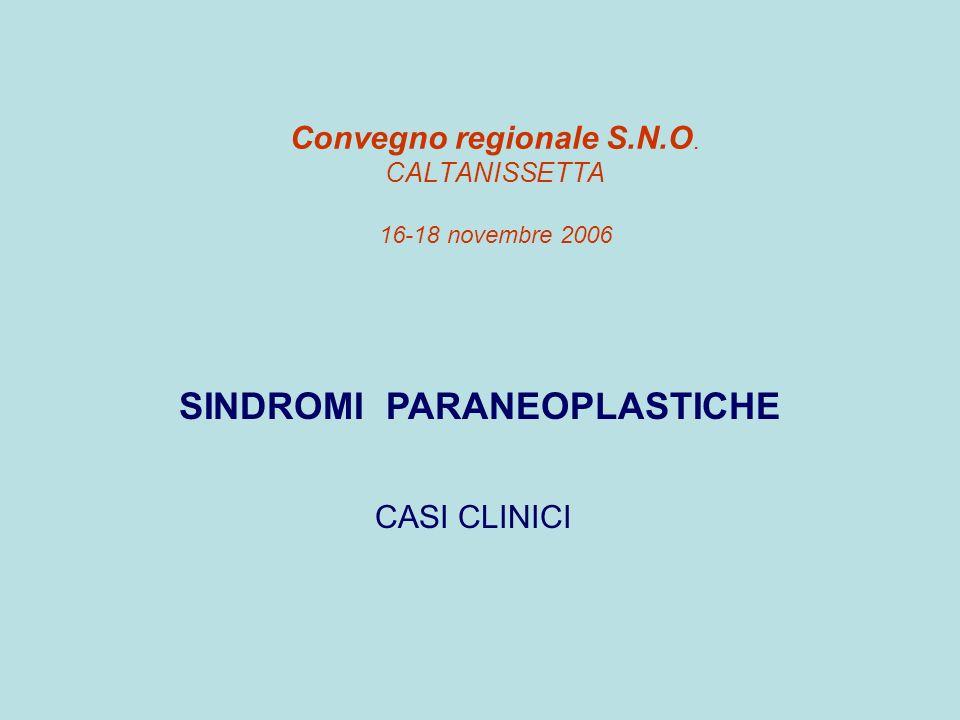 Convegno regionale S.N.O. CALTANISSETTA 16-18 novembre 2006