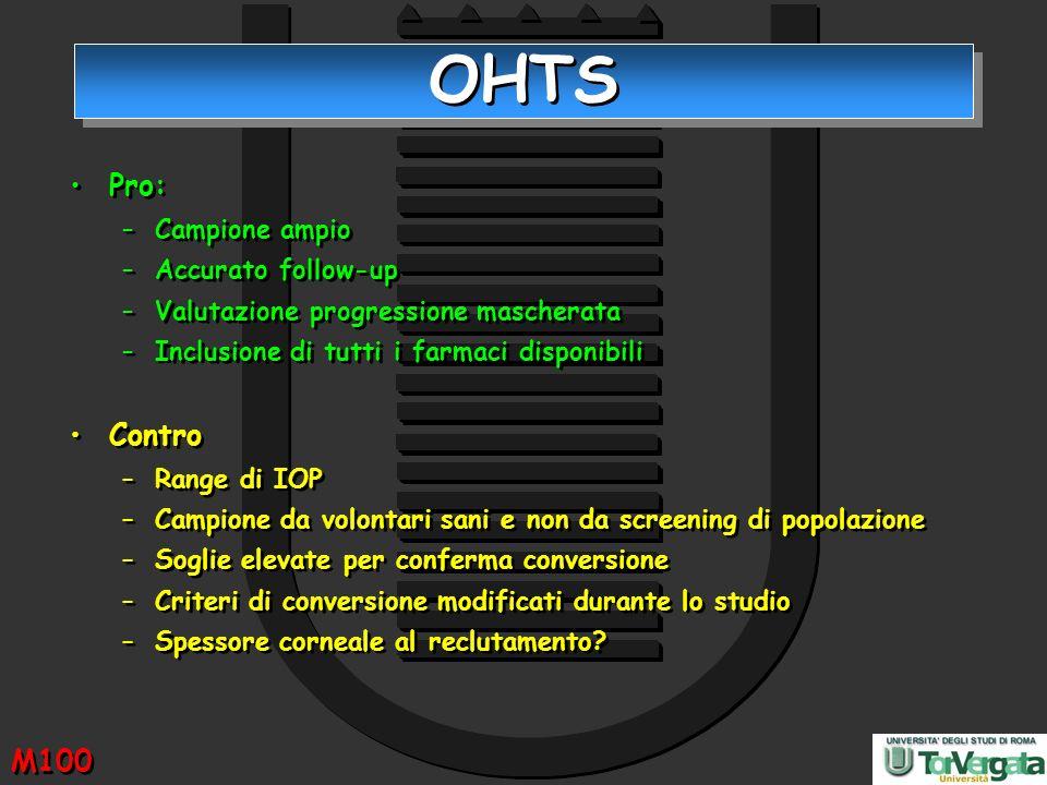 OHTS Pro: Contro M100 Campione ampio Accurato follow-up