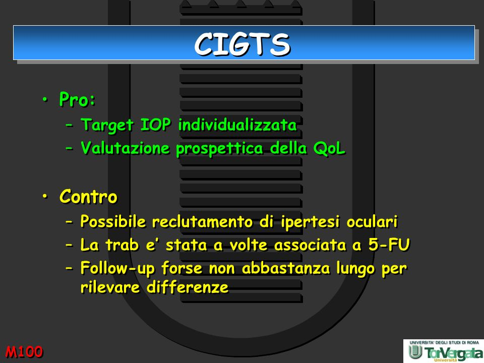 CIGTS Pro: Contro Target IOP individualizzata