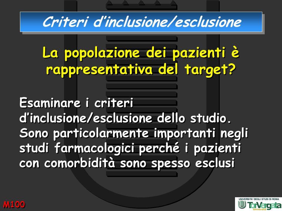 Criteri d'inclusione/esclusione
