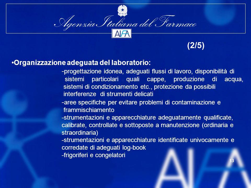 Organizzazione adeguata del laboratorio:
