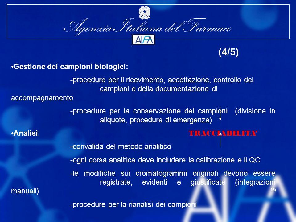 (4/5) Gestione dei campioni biologici: