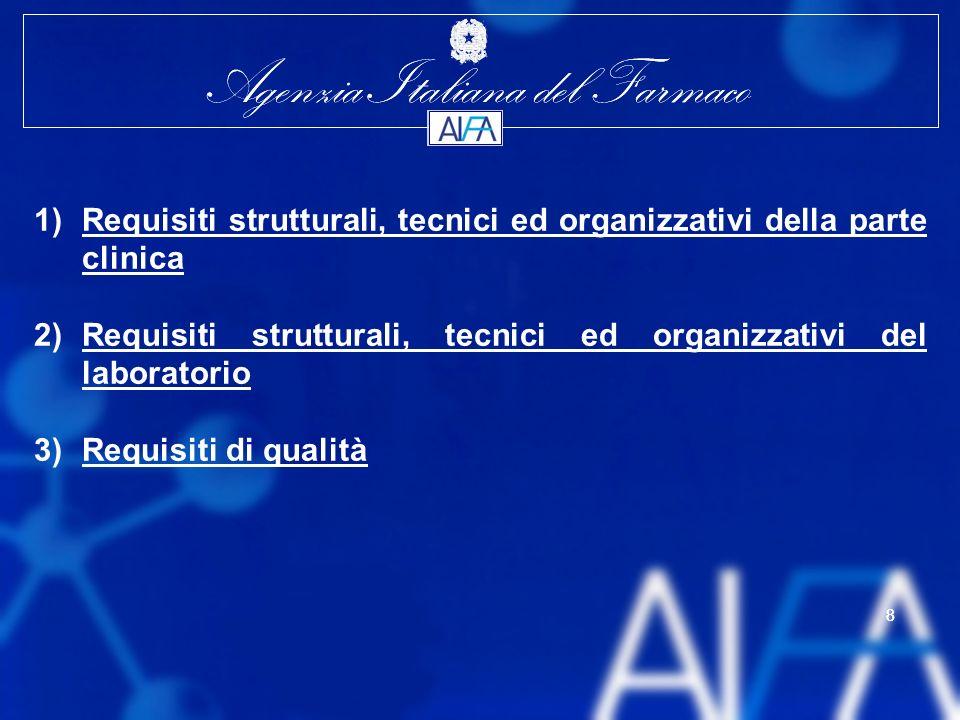 Requisiti strutturali, tecnici ed organizzativi della parte clinica