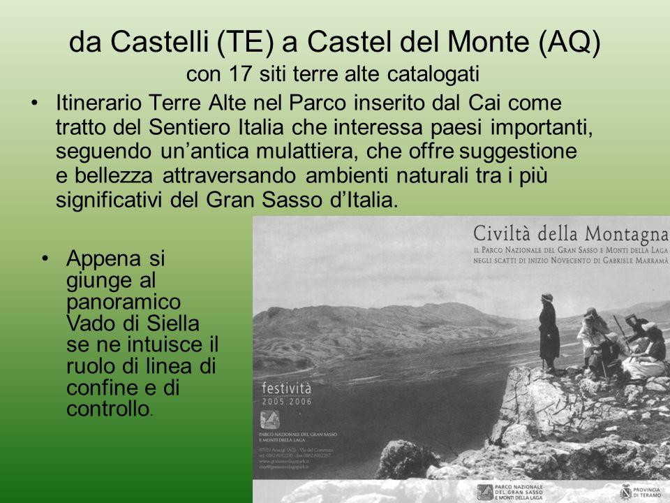 da Castelli (TE) a Castel del Monte (AQ)