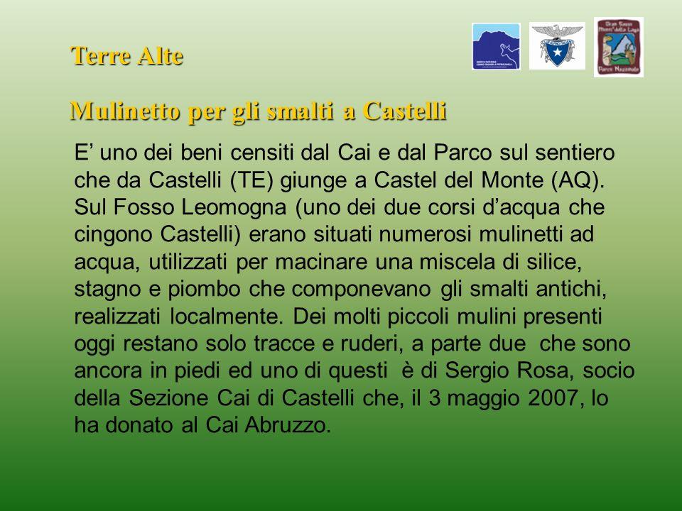 Mulinetto per gli smalti a Castelli
