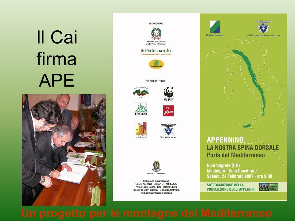Un progetto per le montagne del Mediterraneo