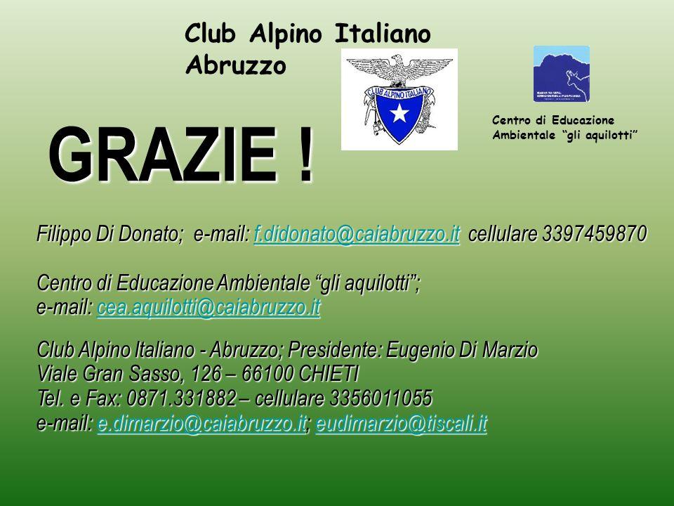 GRAZIE ! Club Alpino Italiano Abruzzo