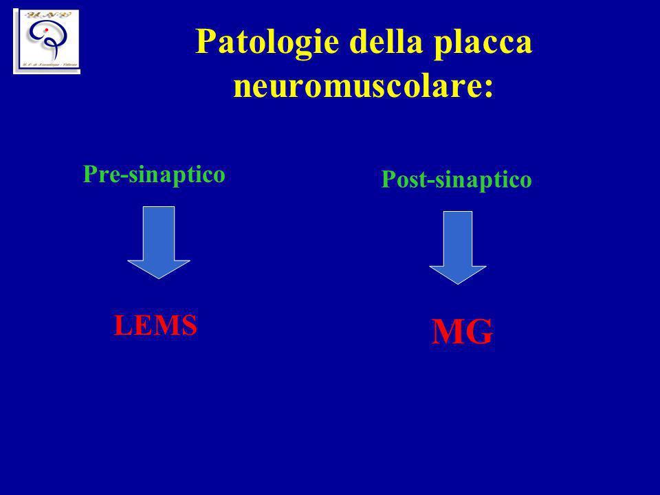 Patologie della placca neuromuscolare: