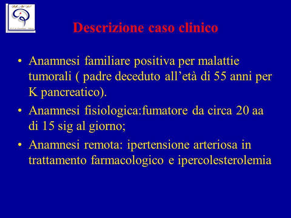 Descrizione caso clinico