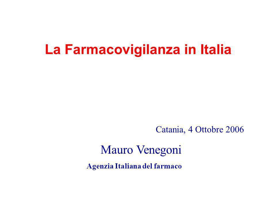 La Farmacovigilanza in Italia Agenzia Italiana del farmaco