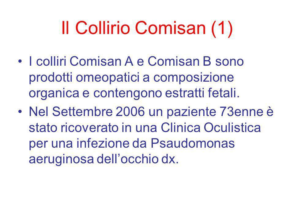 Il Collirio Comisan (1) I colliri Comisan A e Comisan B sono prodotti omeopatici a composizione organica e contengono estratti fetali.