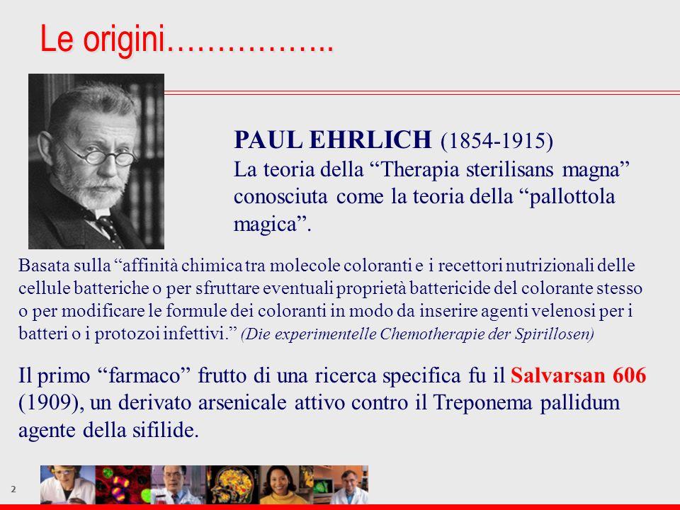 Le origini…………….. PAUL EHRLICH (1854-1915)