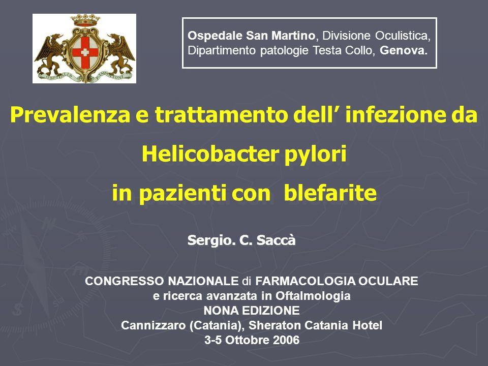 Prevalenza e trattamento dell' infezione da Helicobacter pylori