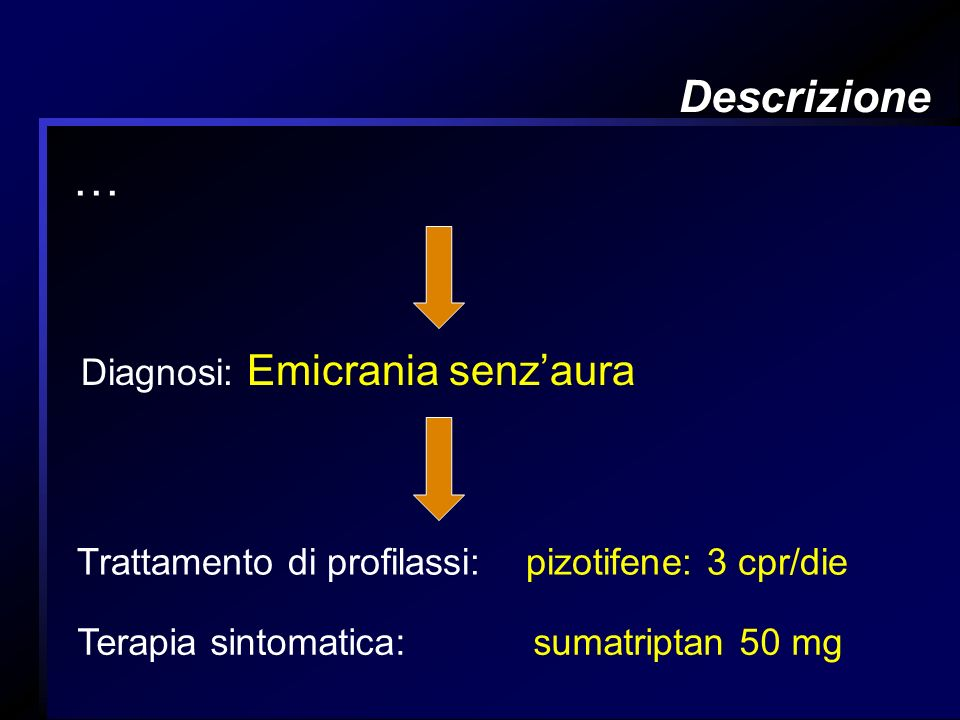 … Descrizione Diagnosi: Emicrania senz'aura
