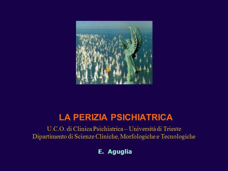 LA PERIZIA PSICHIATRICA