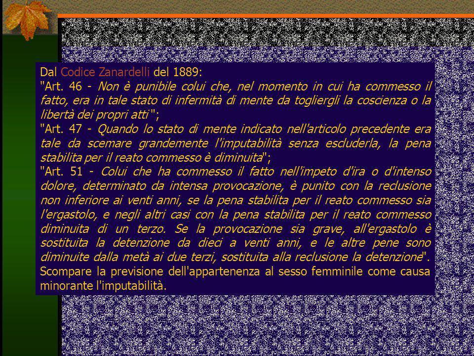 Dal Codice Zanardelli del 1889: