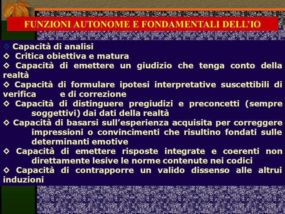 FUNZIONI AUTONOME E FONDAMENTALI DELL'IO
