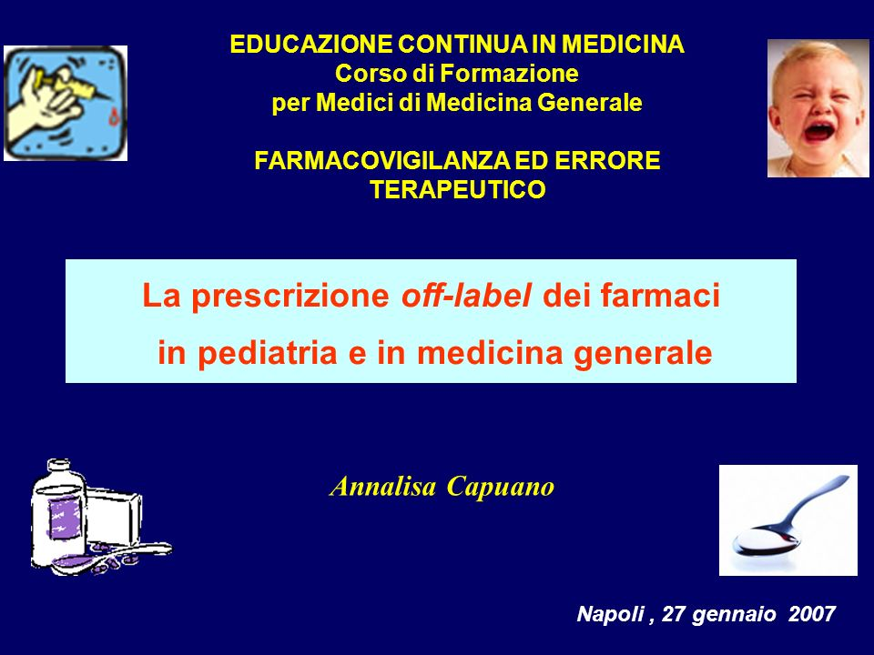 La prescrizione off-label dei farmaci