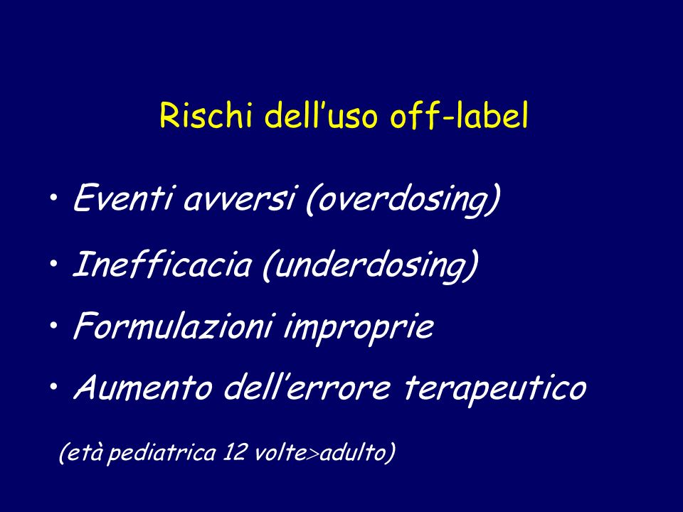 Rischi dell'uso off-label