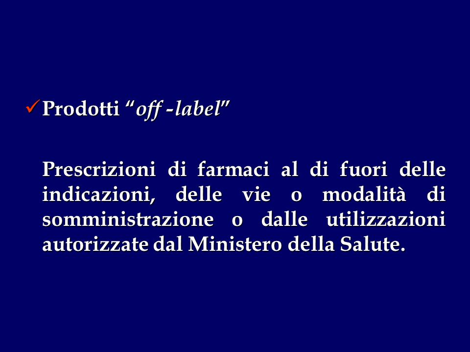 Prodotti off -label