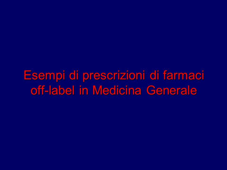 Esempi di prescrizioni di farmaci off-label in Medicina Generale
