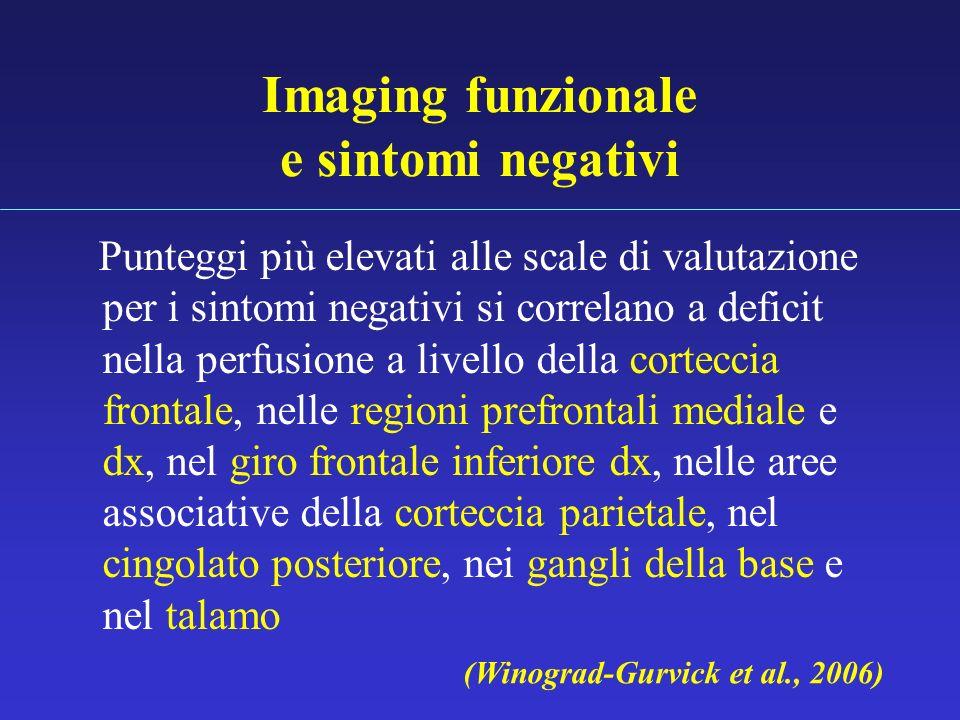 Imaging funzionale e sintomi negativi