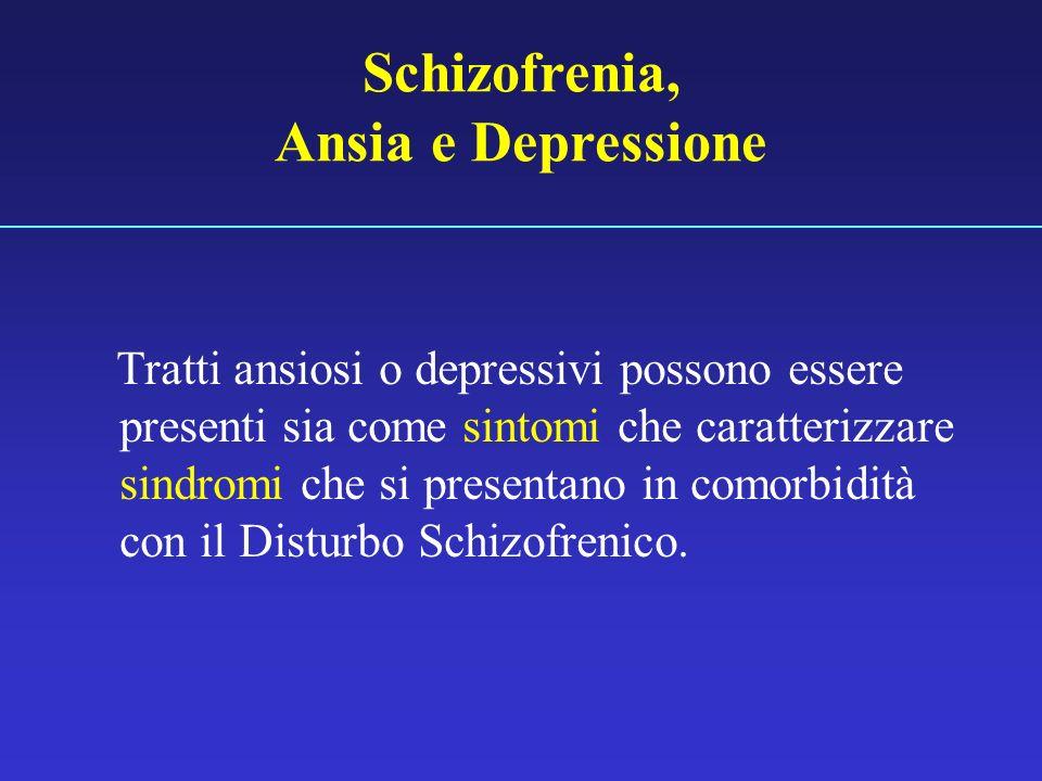 Schizofrenia, Ansia e Depressione