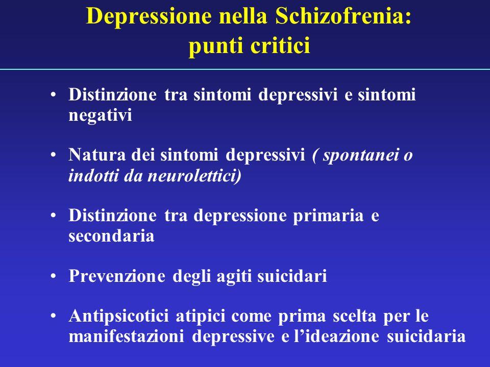 Depressione nella Schizofrenia: punti critici