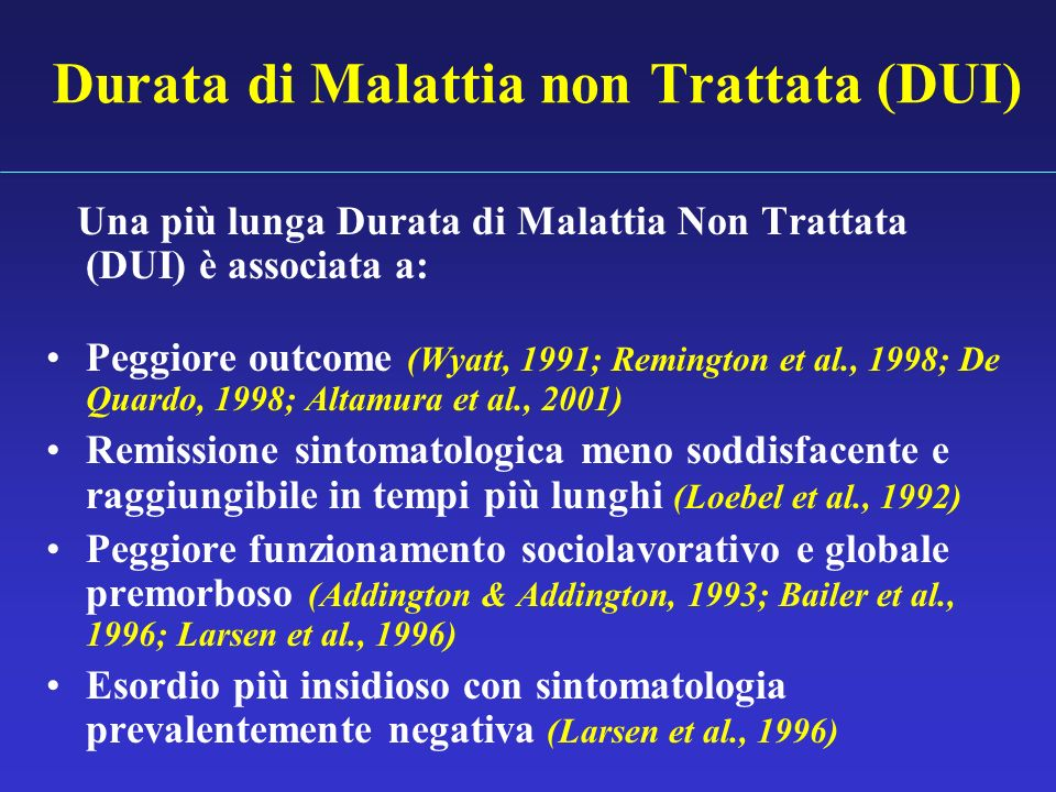 Durata di Malattia non Trattata (DUI)