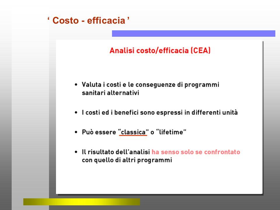 ' Costo - efficacia '