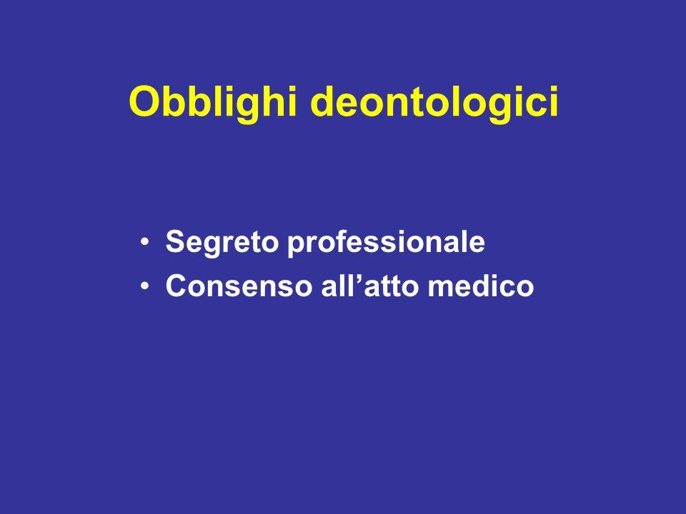 Obblighi deontologici