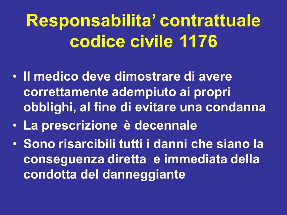 Responsabilita' contrattuale codice civile 1176