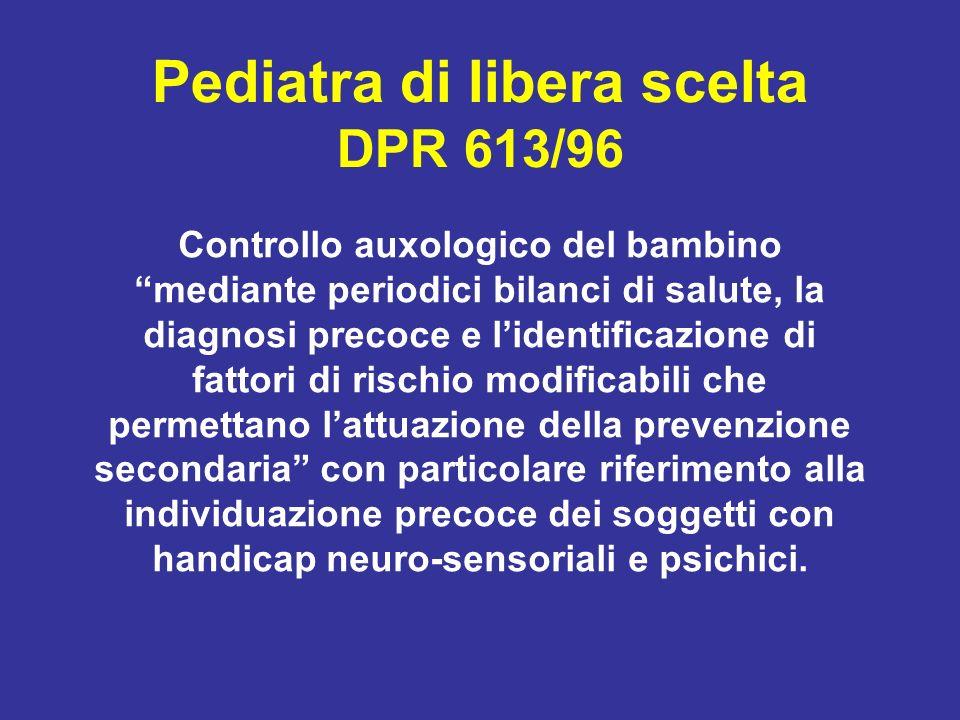 Pediatra di libera scelta DPR 613/96