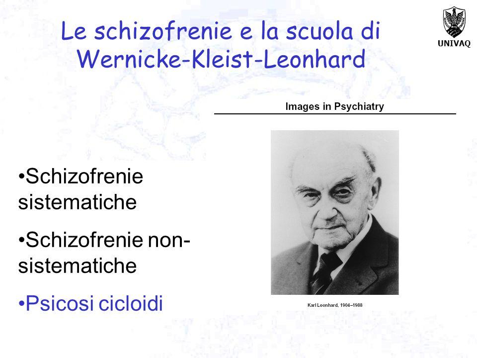 Le schizofrenie e la scuola di Wernicke-Kleist-Leonhard