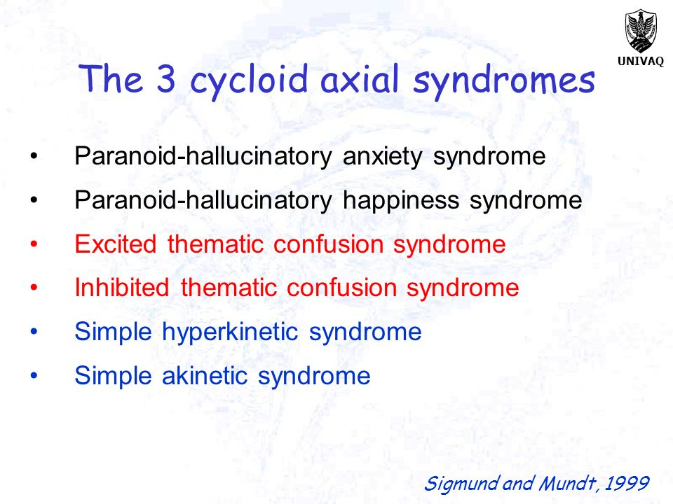 The 3 cycloid axial syndromes