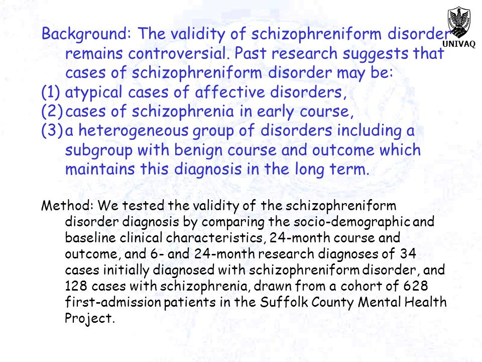 atypical cases of affective disorders,