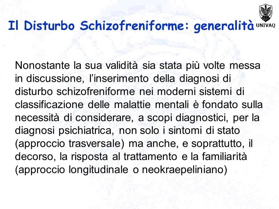 Il Disturbo Schizofreniforme: generalità