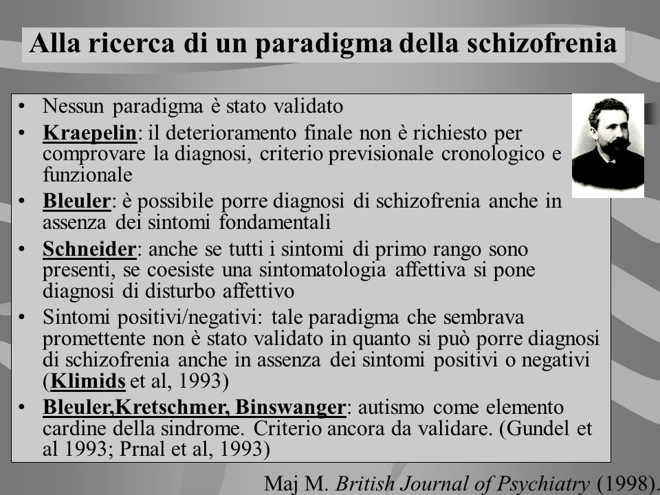 Alla ricerca di un paradigma della schizofrenia