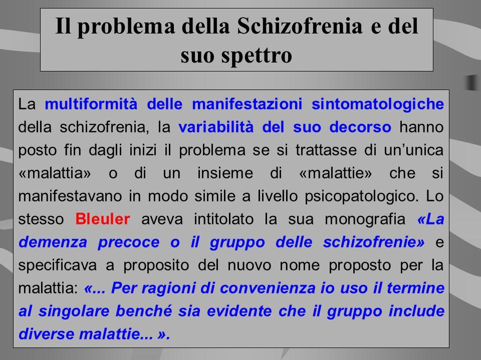Il problema della Schizofrenia e del suo spettro