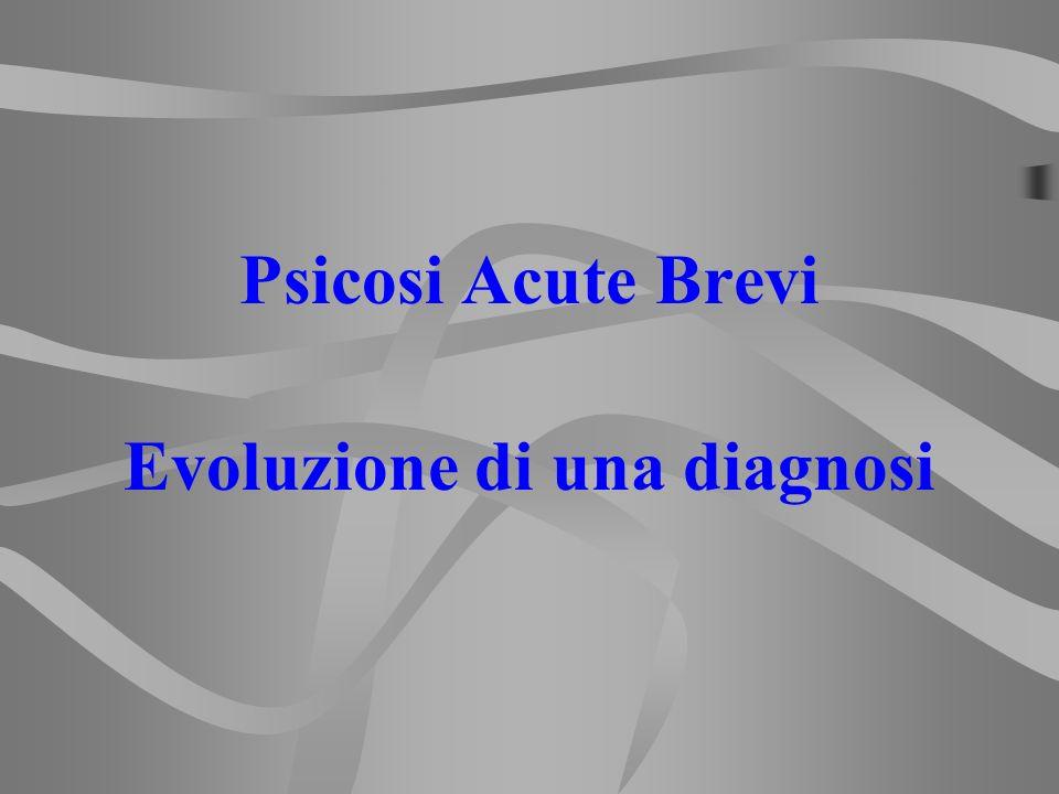 Evoluzione di una diagnosi
