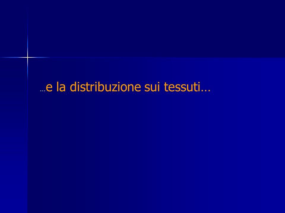 …e la distribuzione sui tessuti…