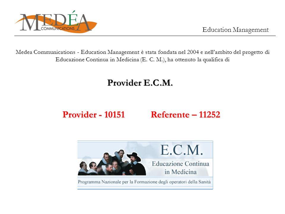 Provider E.C.M. Provider - 10151 Referente – 11252