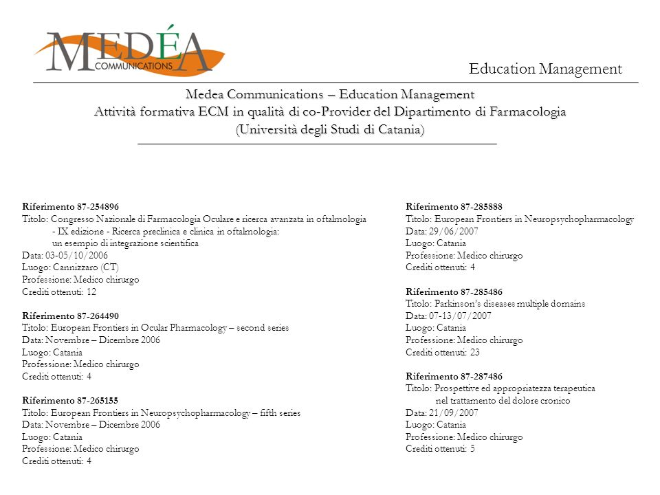 Education Management Medea Communications – Education Management