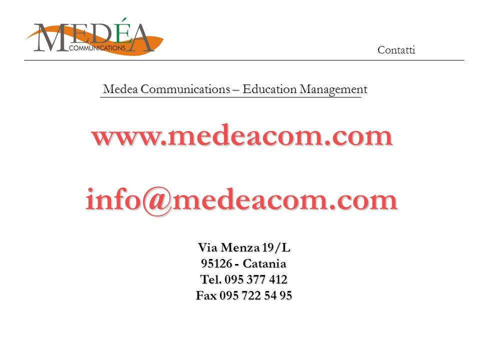 Medea Communications – Education Management