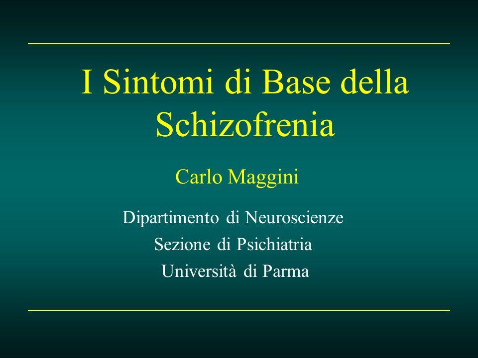 I Sintomi di Base della Schizofrenia