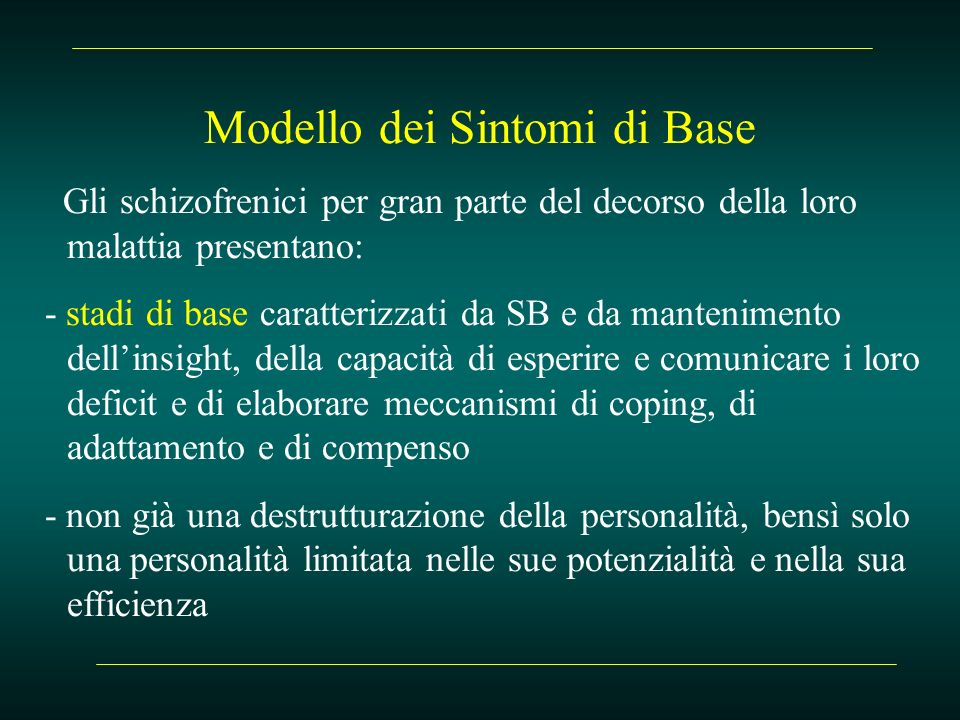 Modello dei Sintomi di Base