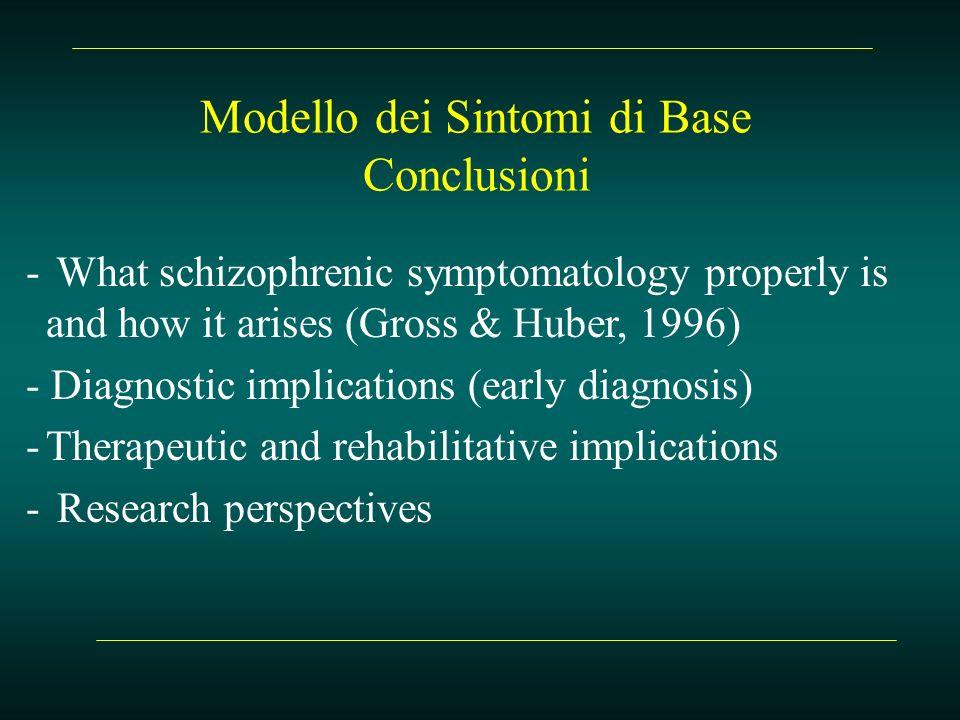 Modello dei Sintomi di Base Conclusioni