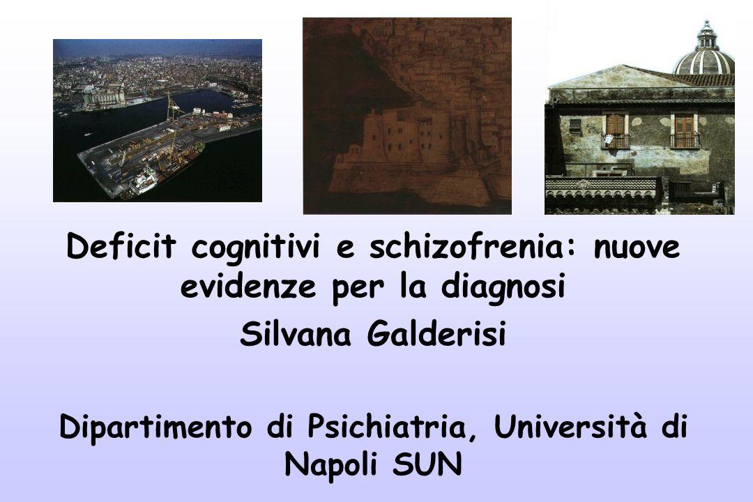 Deficit cognitivi e schizofrenia: nuove evidenze per la diagnosi